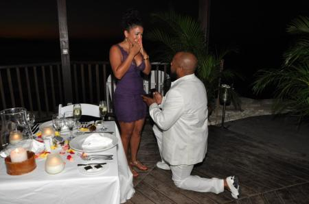 Rockmond Dunbar and Maya Gilbert Engagement pic1