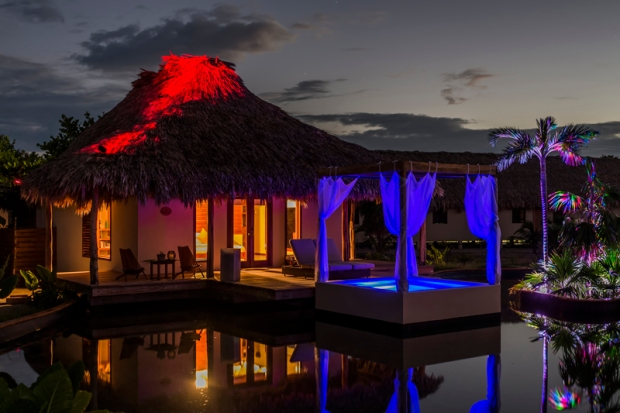 El Secreto Belize Lake Villa at Night